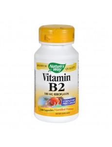 비타민 B2 100mg 리보플라빈, 100 캡슐