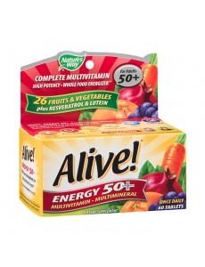 얼라이브 에너지 50+ 멀티비타민-멀티미네랄, 60 타블렛