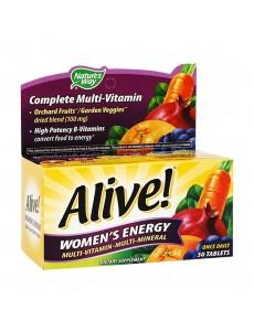 얼라이브 우먼스 에너지 멀티 비타민 - 멀티 미네랄, 50 타블렛