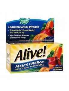 얼라이브 맨즈 에너지 멀티 비타민 - 멀티 미네랄, 50 타블렛