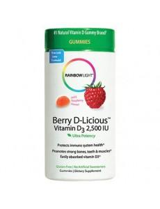 베리D-리셔스 (비타민D 2,500 IU) 라즈베리맛, 50 구미