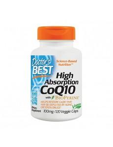 코엔자임 Q10 with 바이오페린 100 mg 120 야채캡슐
