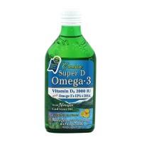 수퍼 D 오메가 3 비타민 D3 레몬맛 2000 IU 250 ml