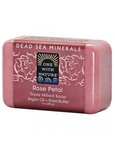 트리플 밀드 로즈 페탈 사해 비누 198 g