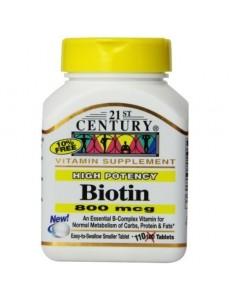하이 포텐시 비오틴 비타민 800mcg 110 타블렛