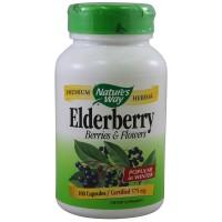 블랙 엘더베리 추출물 575 mg 100 야채캡슐
