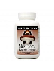 머쉬룸 이뮨 디펜스, 16가지 버섯 추출물 함유, 60 타블렛