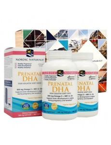 임산부용 DHA 오메가-3 830 mg, 피쉬 젤라틴 180 소프트젤 2개 세트 (기프트 박스 포함)